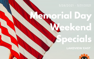 Lakeview East Memorial Day Sepcials