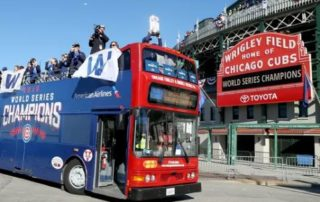 Cubs Bus in Wrigleyville